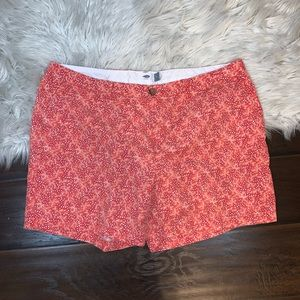 Old navy orange floral shorts women's plus size 16